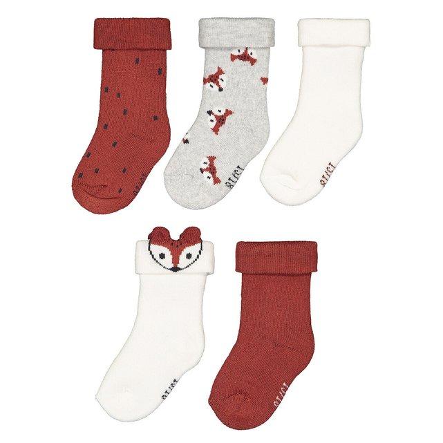Σετ 5 ζευγάρια κάλτσες από οργανικό βαμβάκι, 13 14 - 23 26