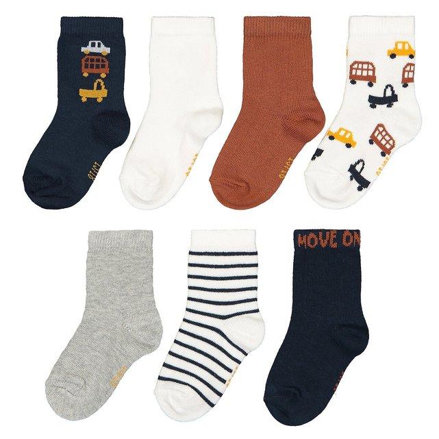 Σετ 7 ζευγάρια κάλτσες από οργανικό βαμβάκι, 15|18 - 23|26