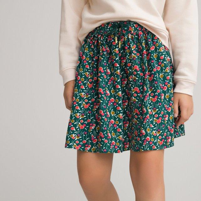 Φλοράλ φούστα με σούρες, 3 - 12 ετών