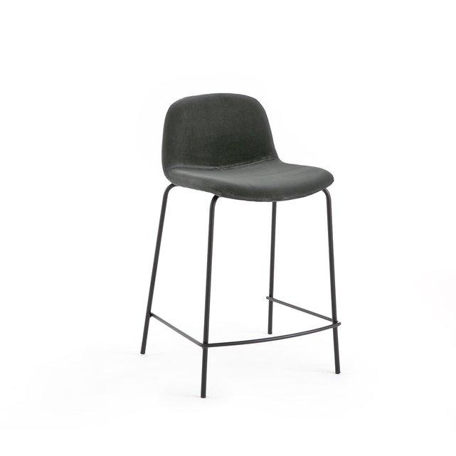 Καρέκλα μπαρ με βελούδινη ταπετσαρία Υ65 εκ., Tibby