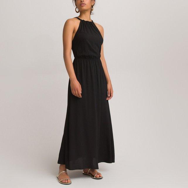 Αμάνικο μάξι φόρεμα σε εβαζέ γραμμή