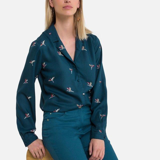 Εμπριμέ πουκάμισο με animal print