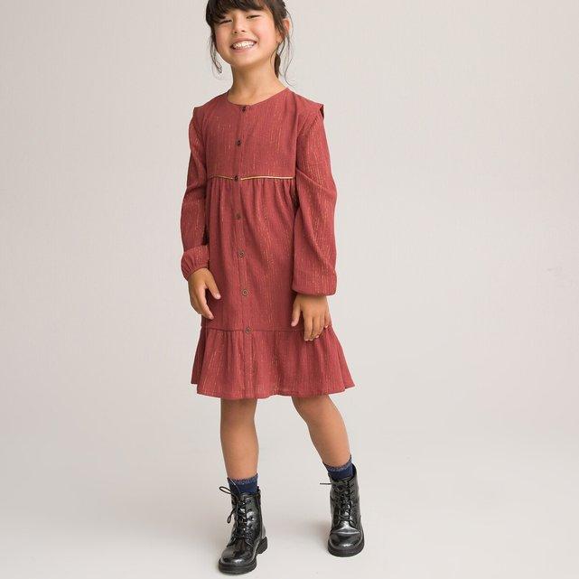 Φόρεμα από βαμβακερή γάζα, 3-12 ετών