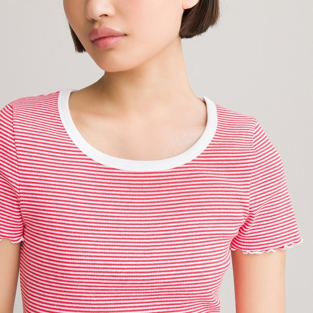 Κοντομάνικη μπλούζα με ρίγες, 10-18 ετών