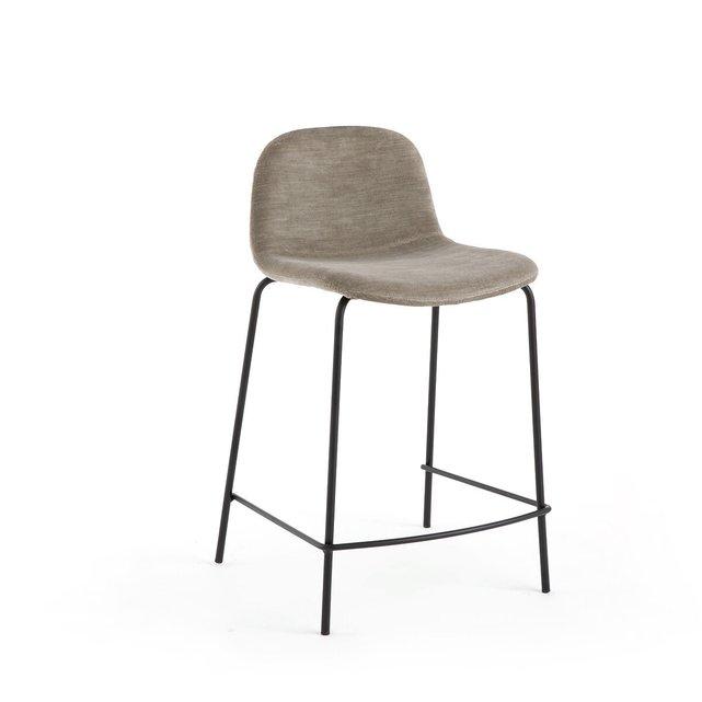 Καρέκλα μπαρ με βελούδινο κάθισμα Υ65 εκ., Tibby