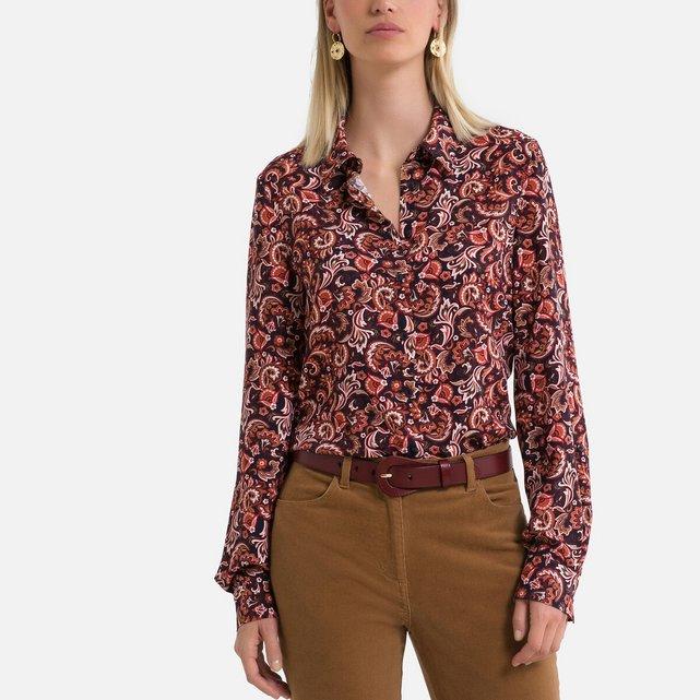 Μακρυμάνικο πουκάμισο με μοτίβο λαχούρια