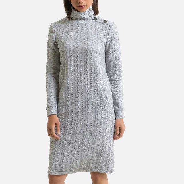 Μίντι φόρεμα με ανάγλυφο σχέδιο ύφανσης