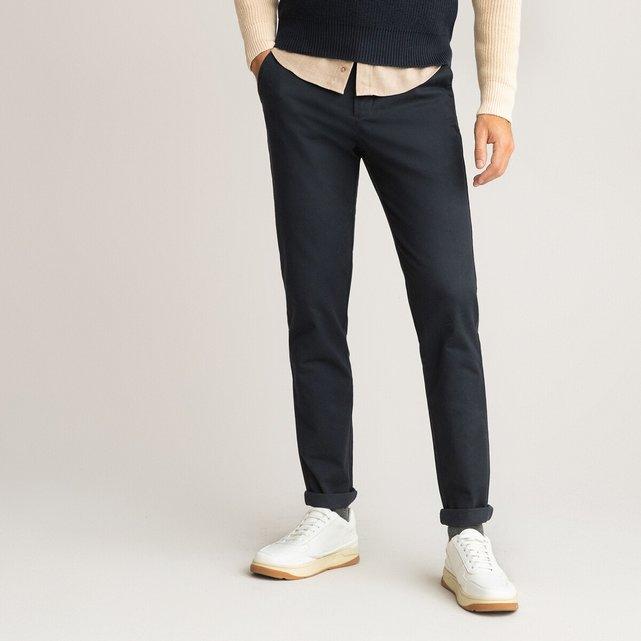 Παντελόνι chino σε γραμμή slim από οργανικό βαμβάκι