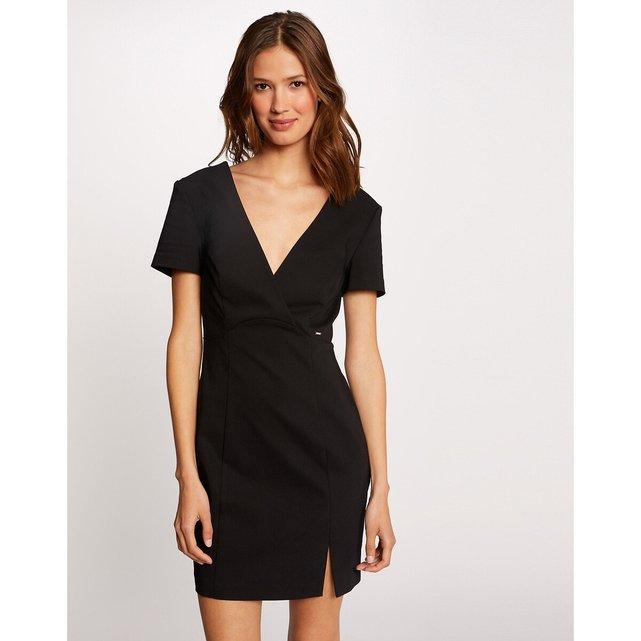 Κοντό μεσάτο φόρεμα με V