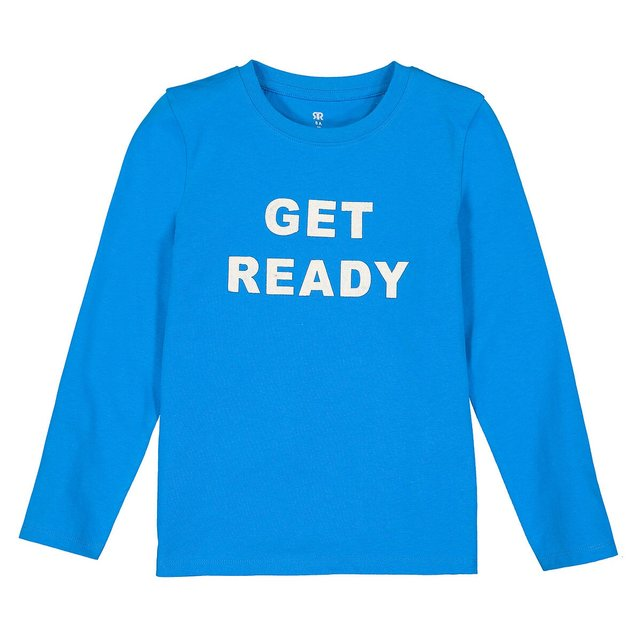 Μακρυμάνικη μπλούζα με στάμπα, 3-12 ετών