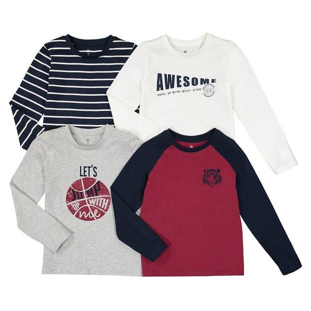 Σετ 4 μακρυμάνικες μπλούζες, 3-12 ετών