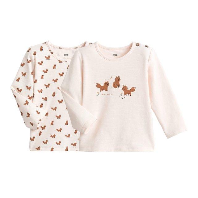 Σετ 2 μακρυμάνικες μπλούζες, 1 μηνός - 2 ετών