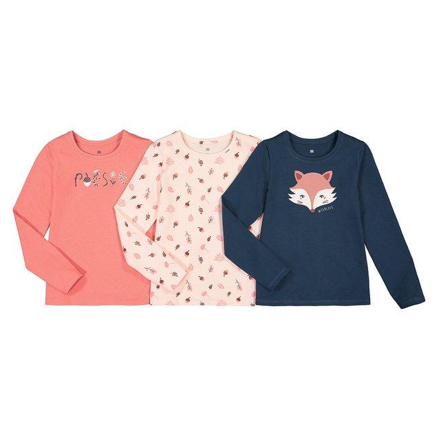 Σετ 3 μακρυμάνικες μπλούζες από οργανικό βαμβάκι, 3 - 12 ετών
