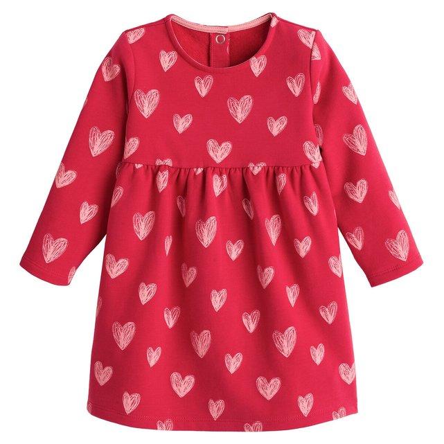 Εμπριμέ φανελένιο φόρεμα από οργανικό βαμβάκι, 3 μηνών - 4 ετών