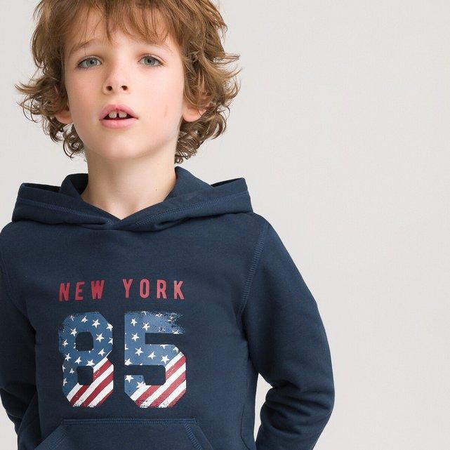 Φανελένιο φούτερ με κουκούλα από οργανικό βαμβάκι, 3 - 12 ετών