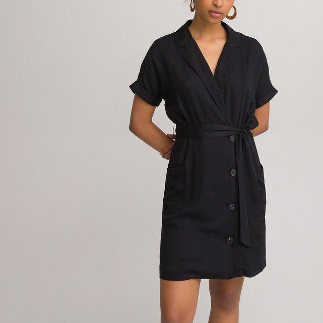 Κοντό φόρεμα-φάκελος με κουμπιά
