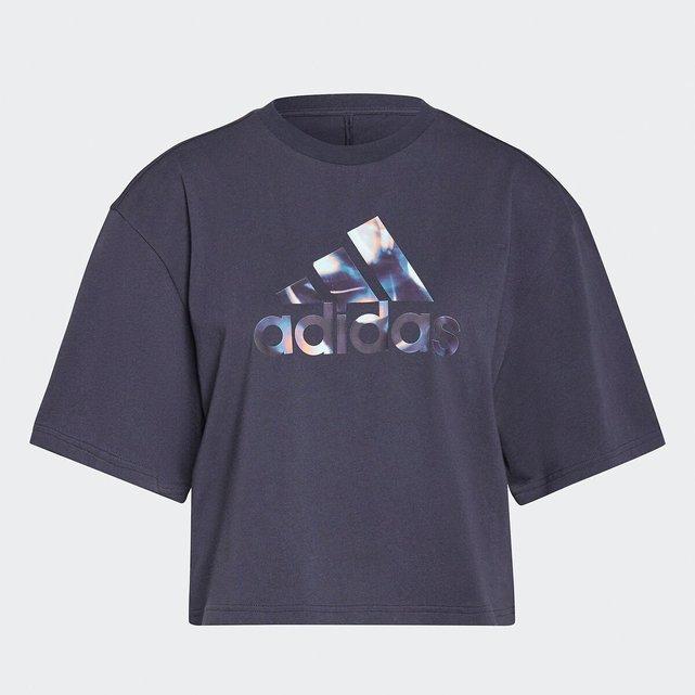 Κοντό T-shirt με στάμπα μπροστά