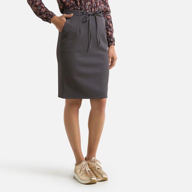 Μίντι φούστα με ανάγλυφο σχέδιο ύφανσης