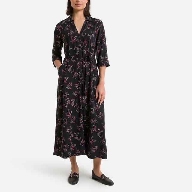Εβαζέ μακρύ φόρεμα με φλοράλ μοτίβο