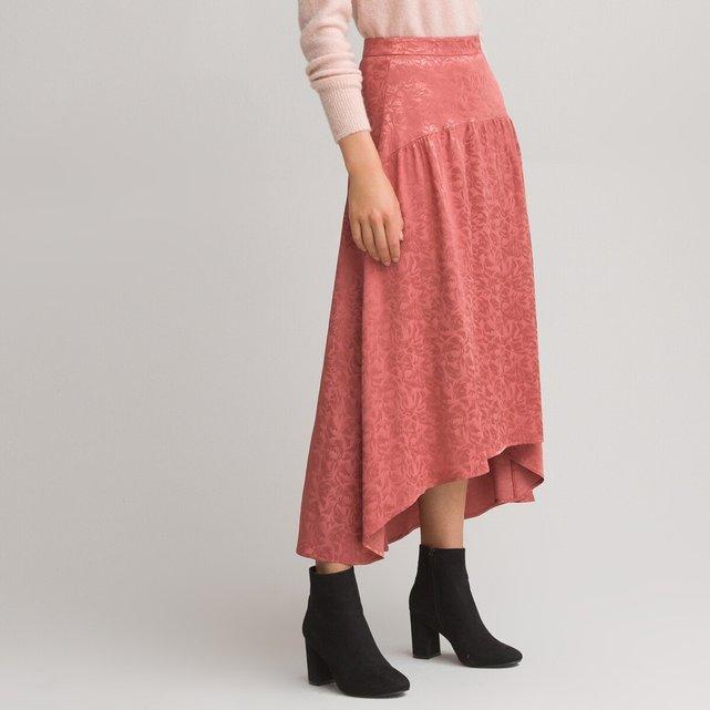 Μακριά ζακάρ φούστα με ασύμμετρη βάση