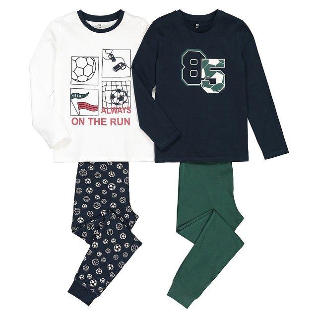 Σετ 2 πιτζάμες από οργανικό βαμβάκι, 3-14 ετών