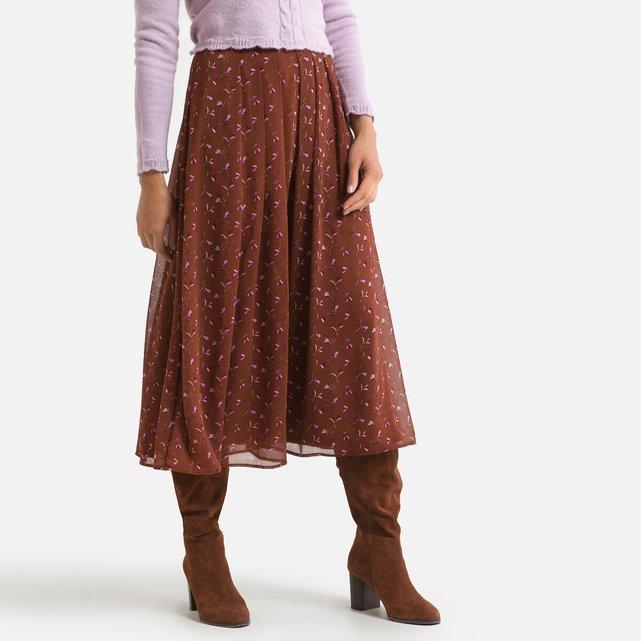 Μακριά φλοράλ φούστα σε εβαζέ γραμμή