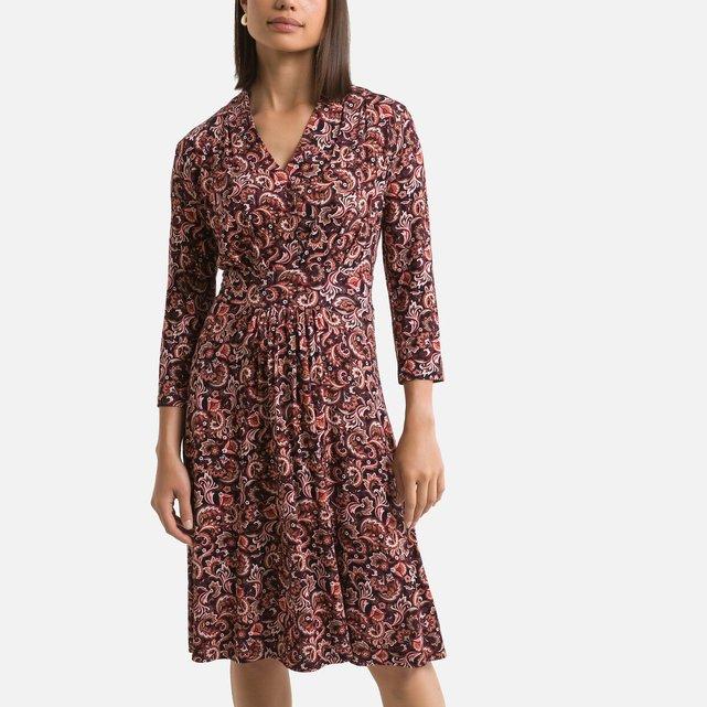 Εβαζέ εμπριμέ φόρεμα με μοτίβο λαχούρια