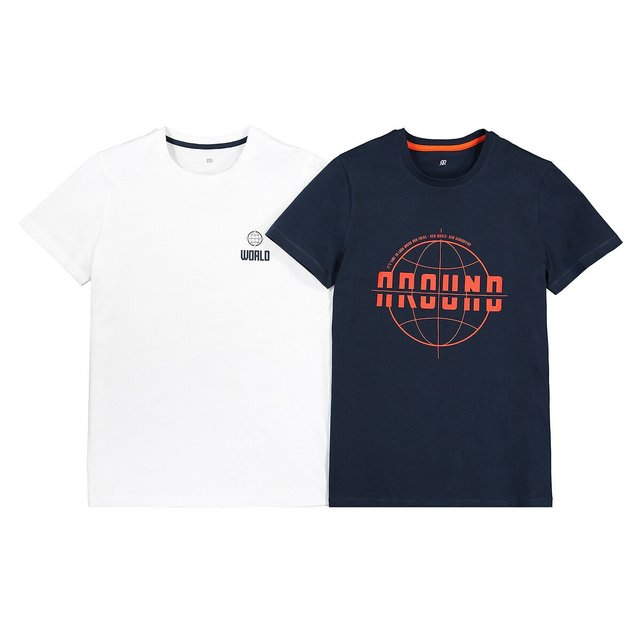 Σετ 4 μπλούζες από οργανικό βαμβάκι, 10 - 18 ετών