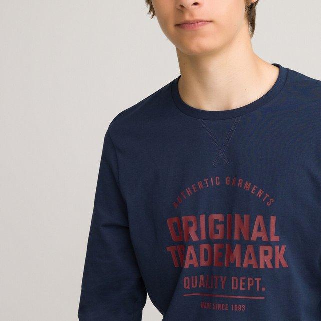 Μακρυμάνικη μπλούζα από οργανικό βαμβάκι, 10-18 ετών