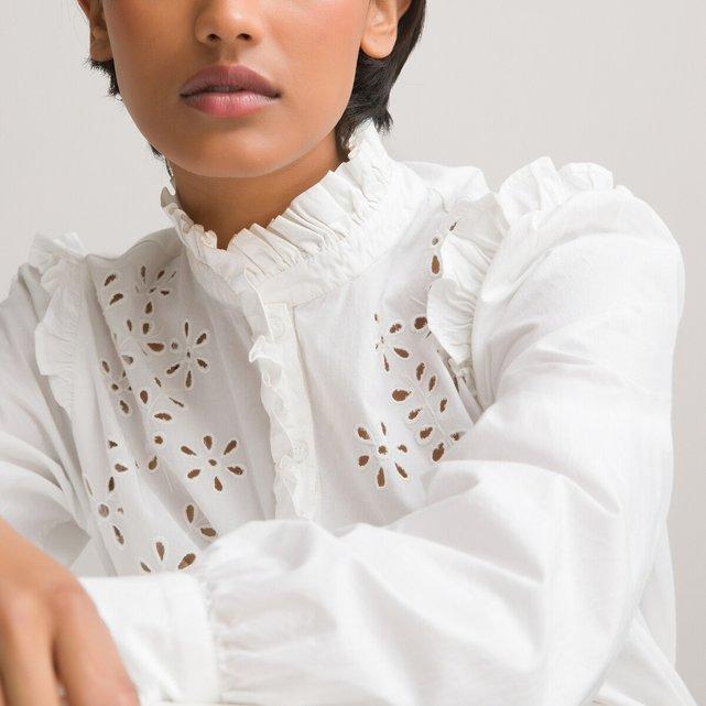 Μακρυμάνικο πουκάμισο με όρθιο λαιμό
