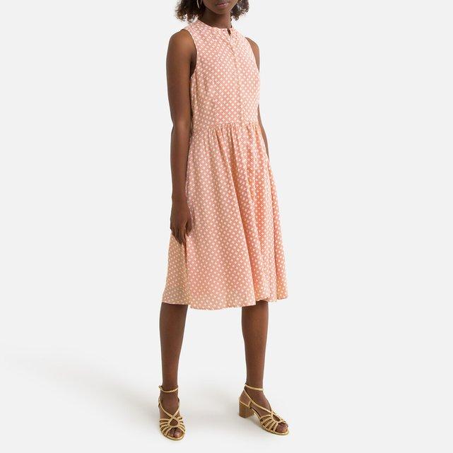 Αμάνικο σεμιζιέ φόρεμα σε εβαζέ γραμμή