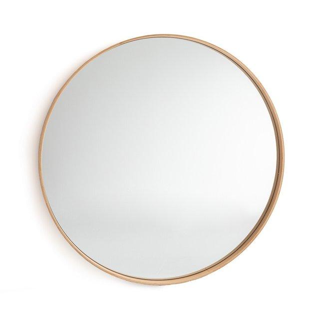 Στρογγυλός καθρέφτης από ξύλο δρυ Δ120 εκ., Alaria