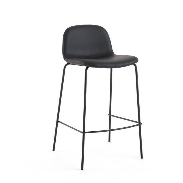 Καρέκλα μπαρ με ταπετσαρία από συνθετικό δέρμα Υ75 εκ., Tibby