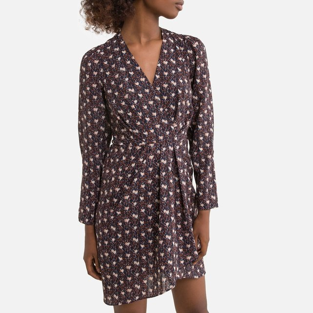 Κοντό εμπριμέ φόρεμα-φάκελος