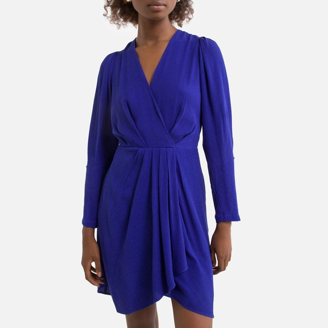 Κοντό φόρεμα-φάκελος με μακριά μανίκια