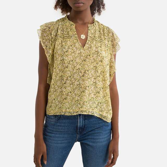 Αμάνικη φλοράλ μπλούζα
