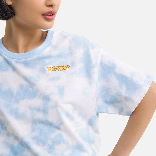 Κοντή μπλούζα με εφέ tie & dye, 6-16 ετών