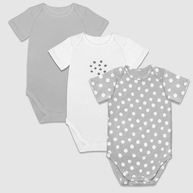 Σετ 3 κορμάκια με κοντά μανίκια, 1 μηνός - 2 ετών