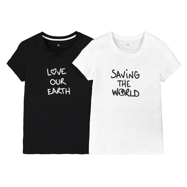 Σετ 2 Τ-shirt με στάμπα, 10-18 ετών