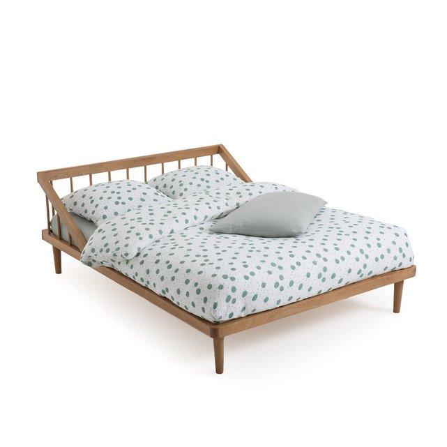 Κρεβάτι από μασίφ ξύλο δρυ με τάβλες, Enias