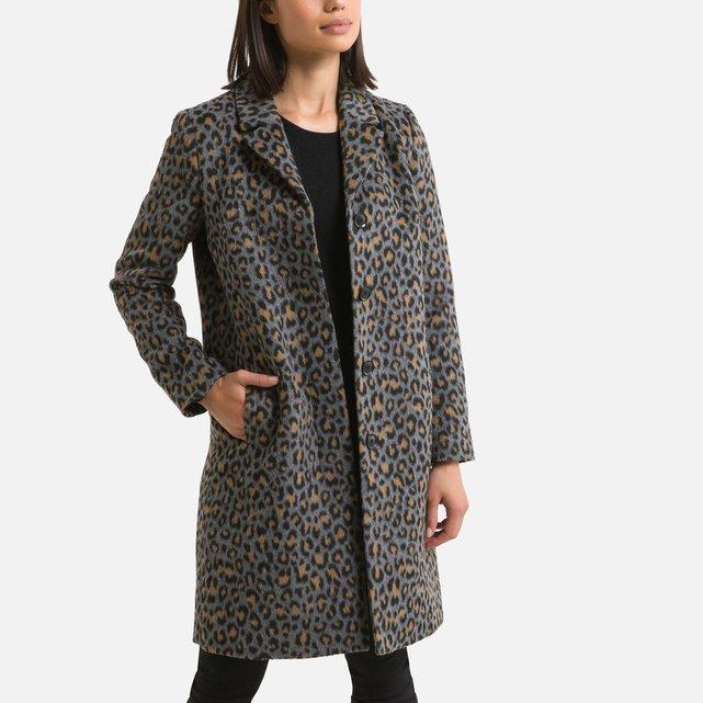 Εμπριμέ παλτό με animal print