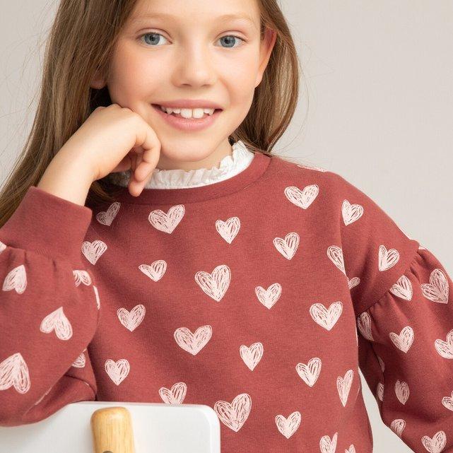 Φανελένιο εμπριμέ φούτερ από οργανικό βαμβάκι, 3-14 ετών