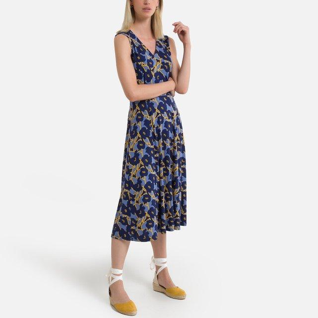 Εβαζέ μίντι φόρεμα με φλοράλ μοτίβο