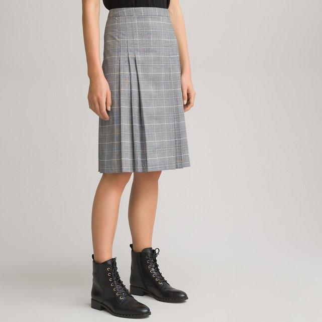 Καρό πλισέ φούστα πρενς-ντε-γκαλ
