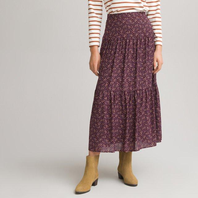 Μακριά φούστα με εμπριμέ μοτίβο λαχούρια