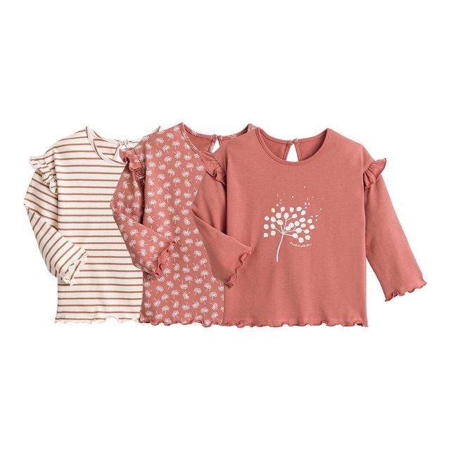 Σετ 3 μακρυμάνικες μπλούζες, 1 μηνός - 2 ετών