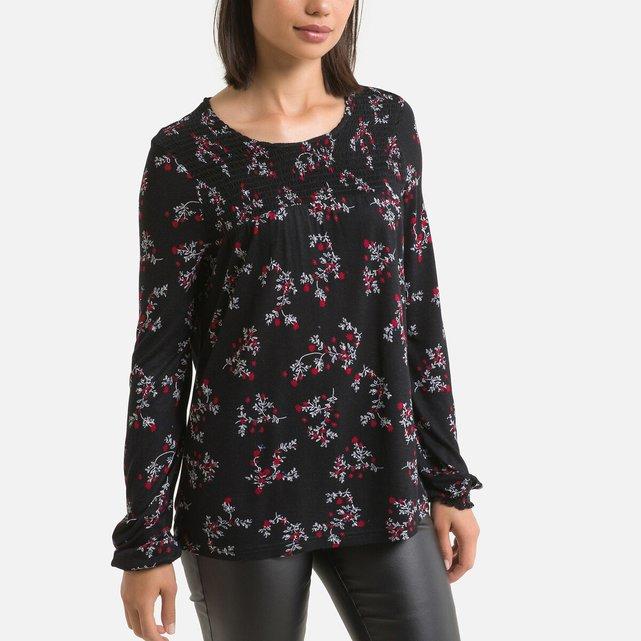 Μακρυμάνικη μπλούζα με στρογγυλή λαιμόκοψη