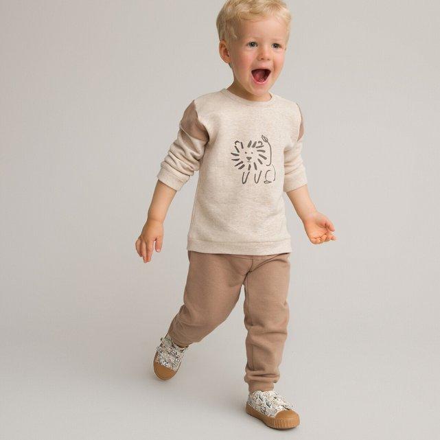 Φανελένιο σύνολο με φούτερ και παντελόνι από οργανικό βαμβάκι, 1 μηνός - 3 ετών
