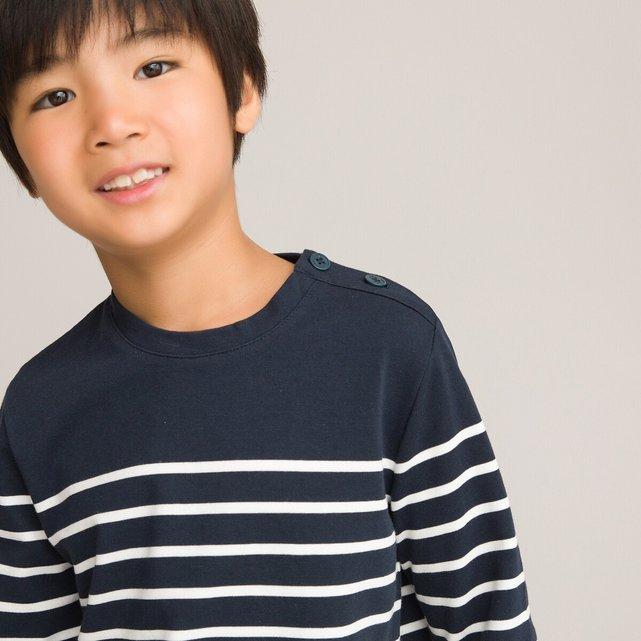 Μακρυμάνικη μπλούζα με ρίγες, 3-12 ετών