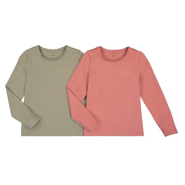 Σετ 2 μακρυμάνικες μπλούζες από οργανικό βαμβάκι, 3-12 ετών